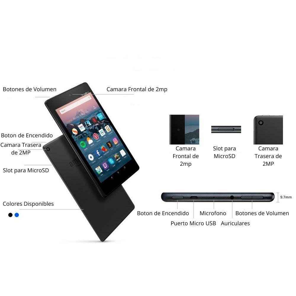 tablet amazon fire 8 partes